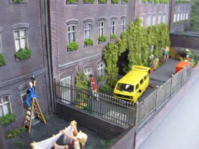 Stadthäuser Hinterhof H0